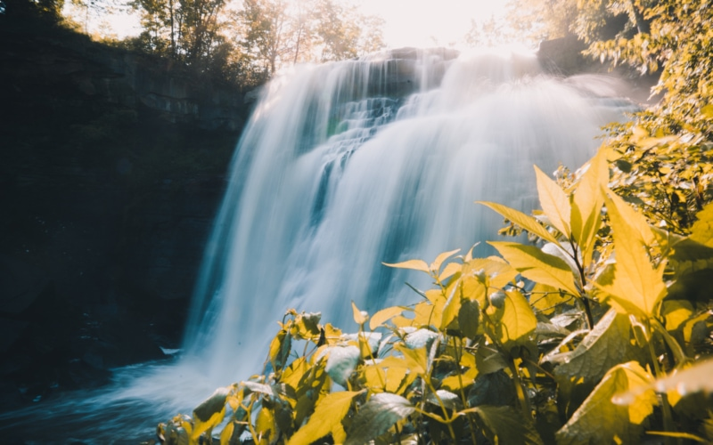 An early morning at Brandywine Falls in Cuyahoga National Park
