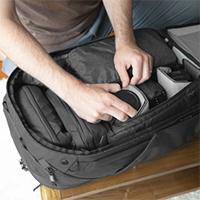 Peak Design Travel Backpack's camera cube storage
