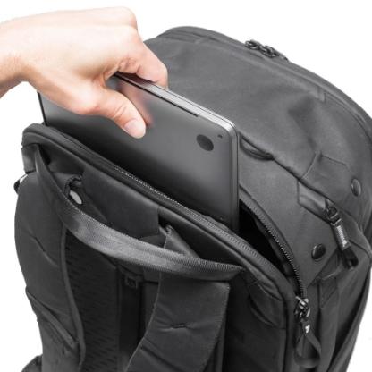 The Peak Design's laptop compartment