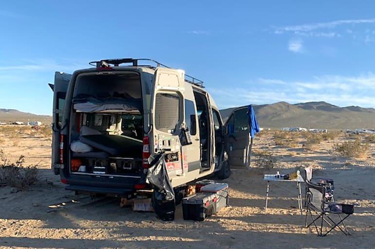 2019 Mercedes Benz Sprinter in the desert