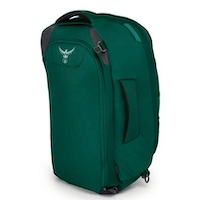 Osprey Fairview in green with stowaway straps