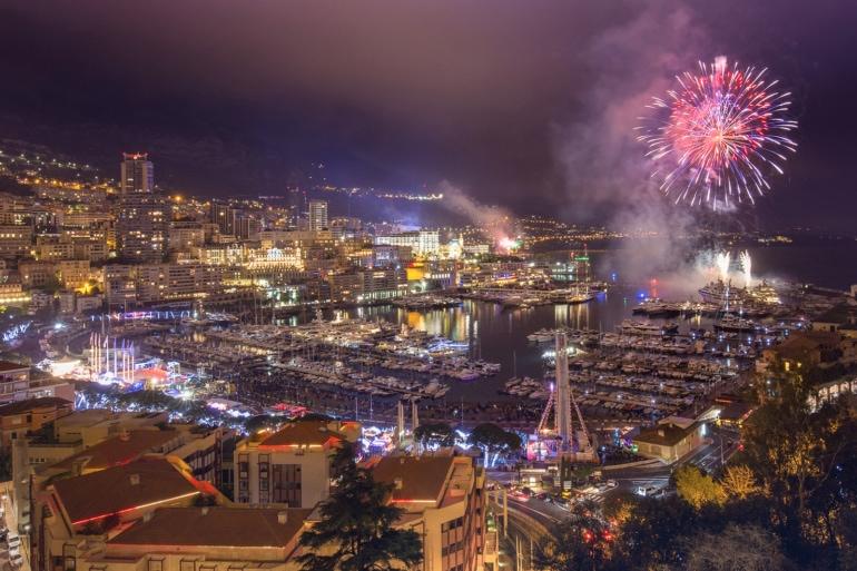 fireworks over Bangkok, Thailand