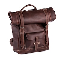 Pad & Quill Heritage Rolltop Leather Laptop Backpack