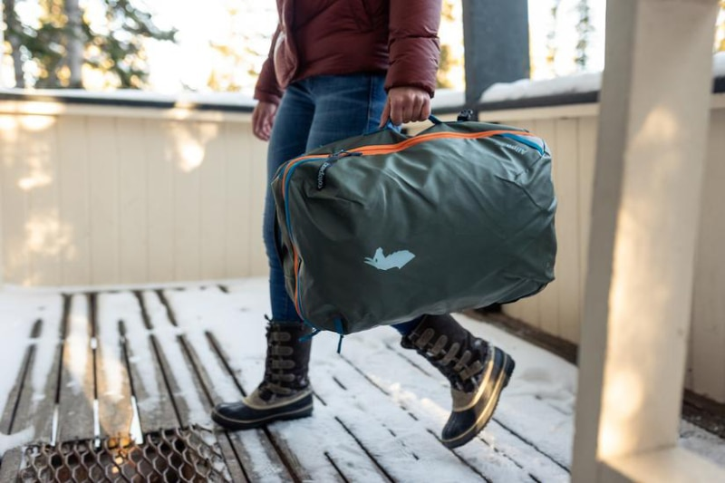 Cotopaxi Allpa 35L carried with one handle