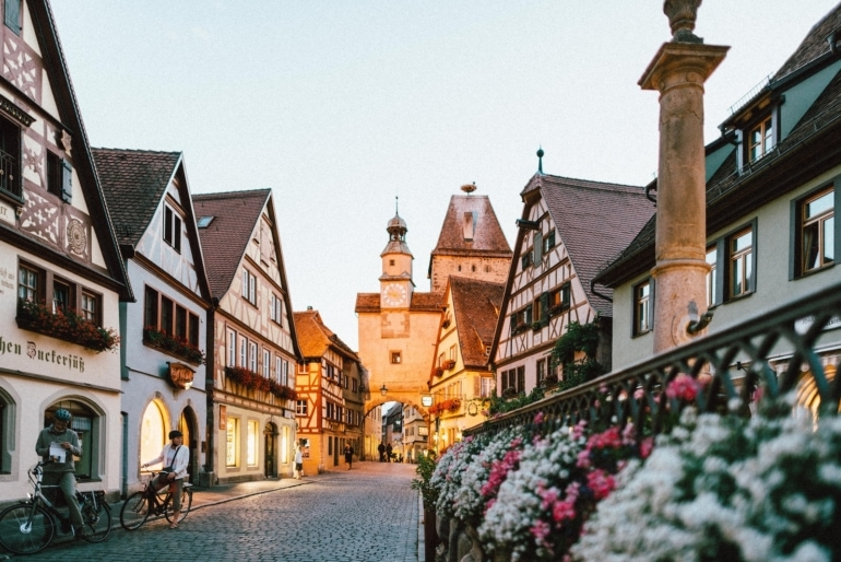 a quaint street scene in Germany