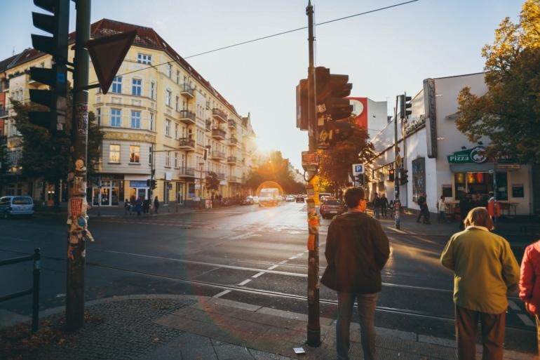 street corner in Prenzlauer Berg, Berlin