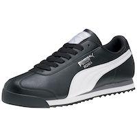 black Puma walking sneakers