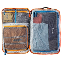 Cotopaxi Allpa 35L travel pack's mesh interior