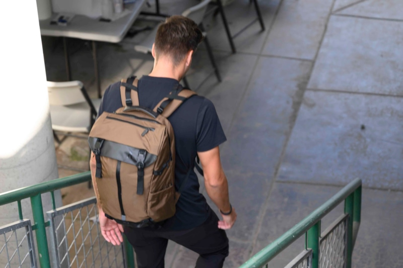 man wearing a Boundary Supply Prima Backpack