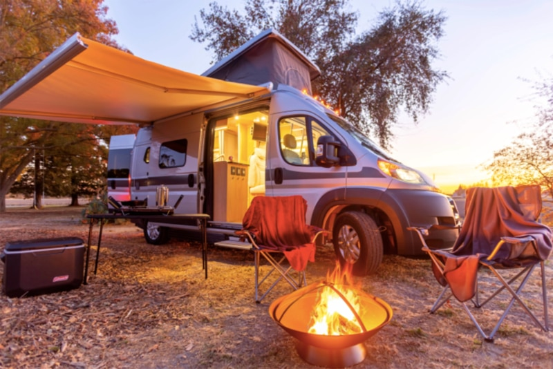 Camping with an RV rental