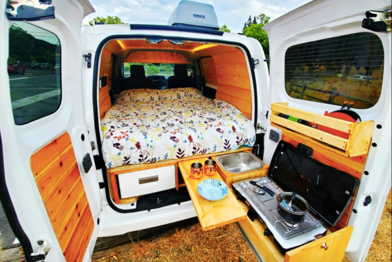 Interior of a campervan