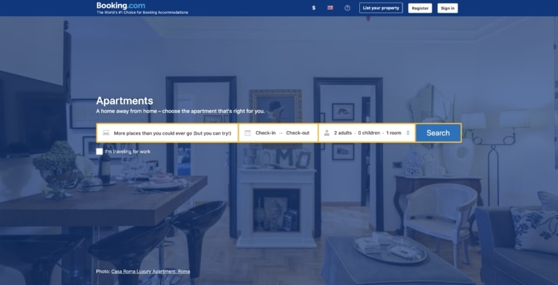 Booking.com is now a vacation rental website, too, offering short-term vacation rentals like Airbnb.