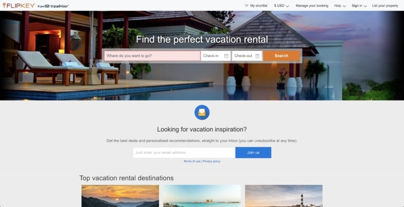 Flipkey is one of the largest Airbnb competitors