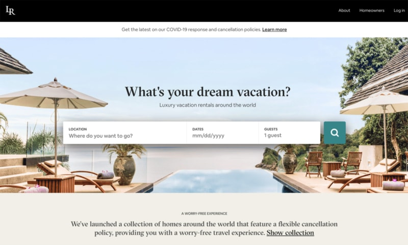 Luxury Retreats has Airbnb alternatives because they're actually owned by Airbnb now!