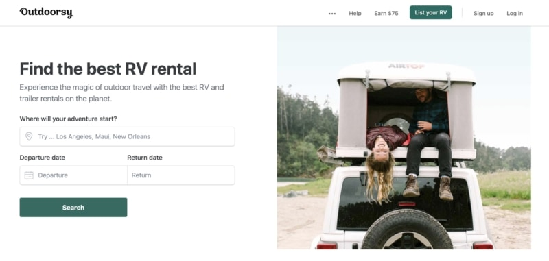 Outdoorsy is an Airbnb alternative for RV rentals.