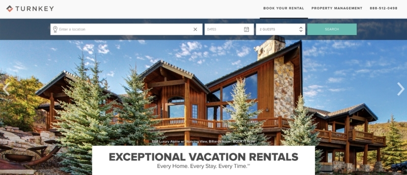 TurnKey has plenty of options and is one of the newest Airbnb competitors, offering tons of properties and short-term rentals.