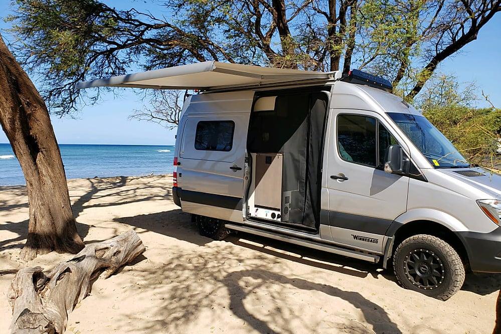 """Maui Van Life... Brand New 2019 Winnebago Revel """"Silver Surfer"""""""
