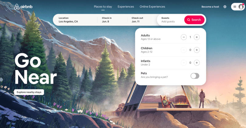 Airbnb search filters